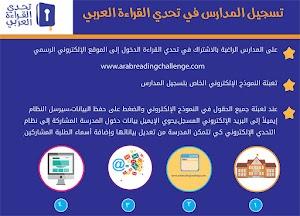 تسجيل المدارس في برنامج تحدي القراءة العربي
