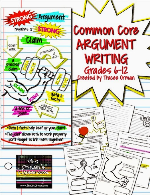 Argumentative Writing for Grades 6-12 {blog post}
