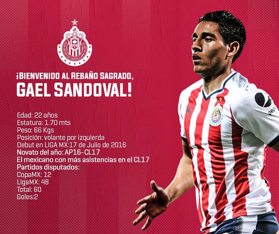 Gael Sandoval nuevo refuerzo de Chivas