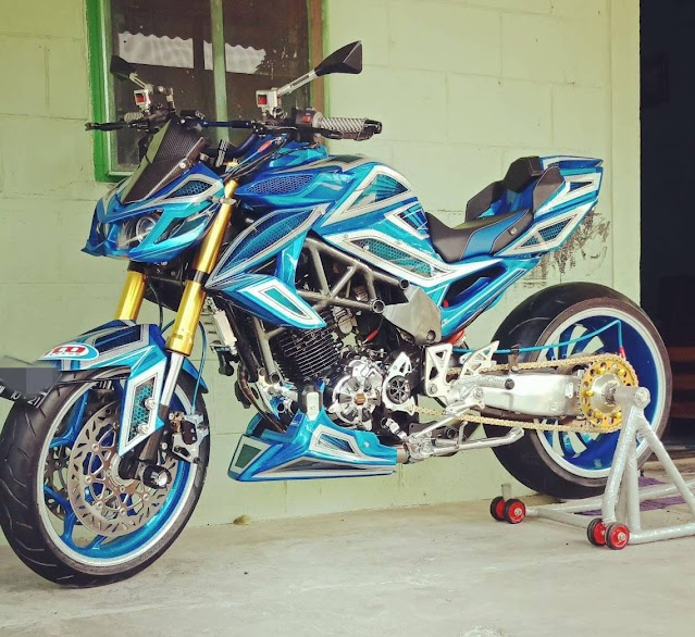 Modifikasi Motor Byson Street Fighter