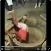 Moment A Lady Fell Into A Concrete Ring In A Deep Pit. VIDEO
