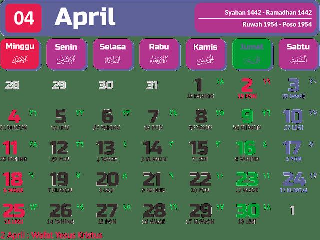 Kalender 2021 Per Bulan, Kalender 2021 Januari
