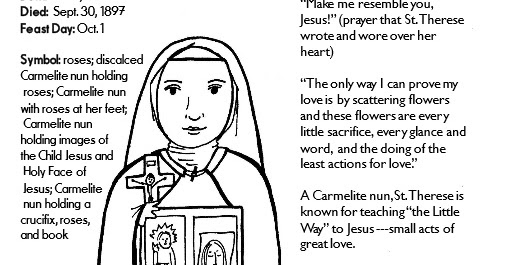 paper dali saint therese of lisieux coloring page free printable