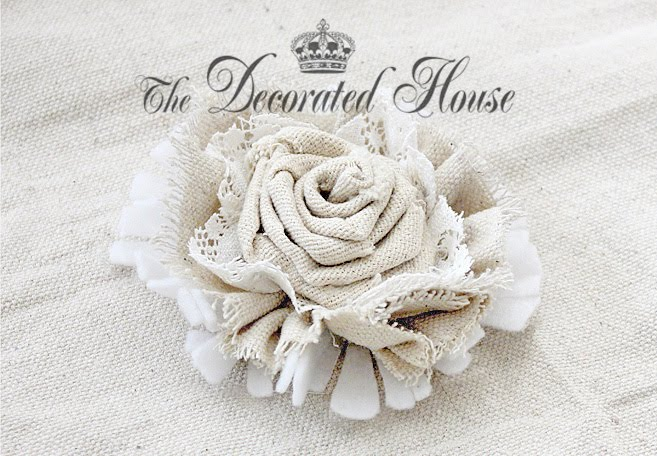 The Decorated House: ~ How to Make Fabric Flowers ... Бохо Шик 2012