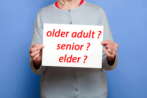 What to call seniors and elderly people?