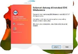 Download Informasi Rilis Perbaikan Aplikasi EDS Dikdasmen Versi 2020.07.07 (Versi Juli Tahun 2020)