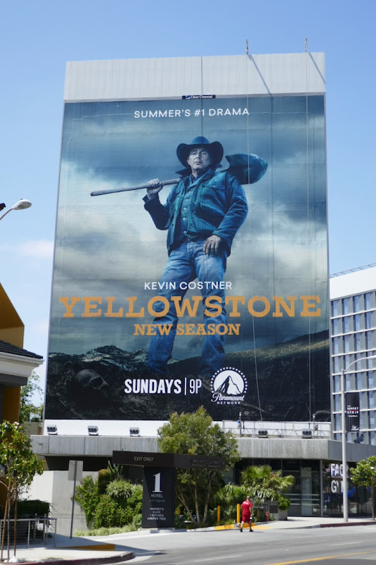 Giant Yellowstone season 3 billboard