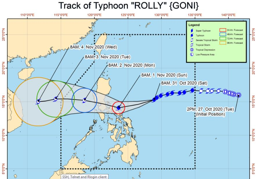 Near super Typhoon Rolly endangers Bicol region, Quezon