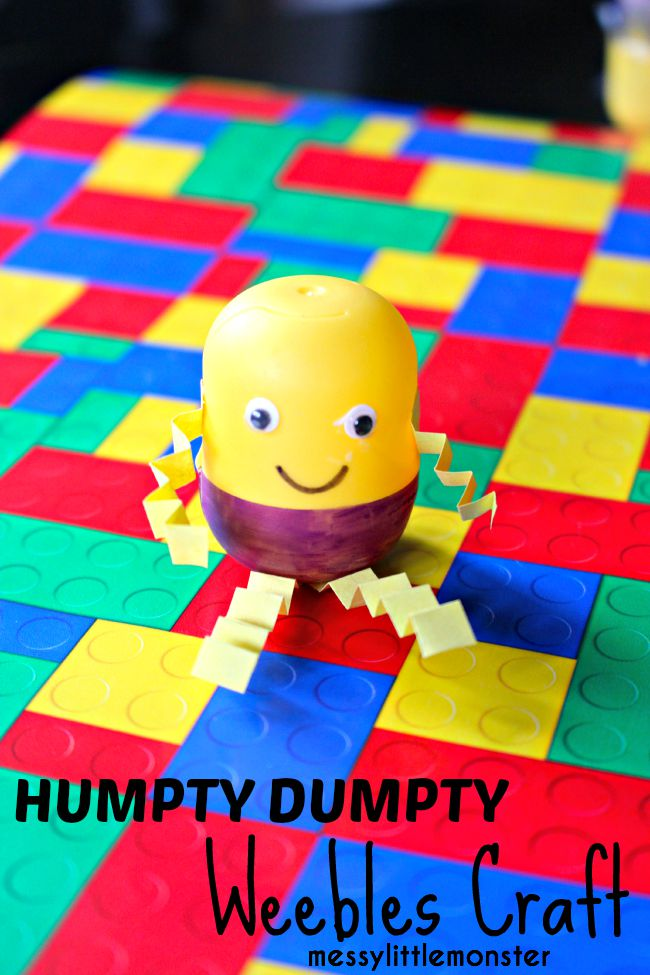 Simple Humpty Dumpty weebles egg craft for preschoolers