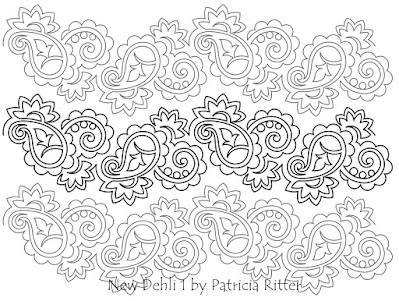 'New Dehli #1' quilting pattern designed by Patricia E Ritter
