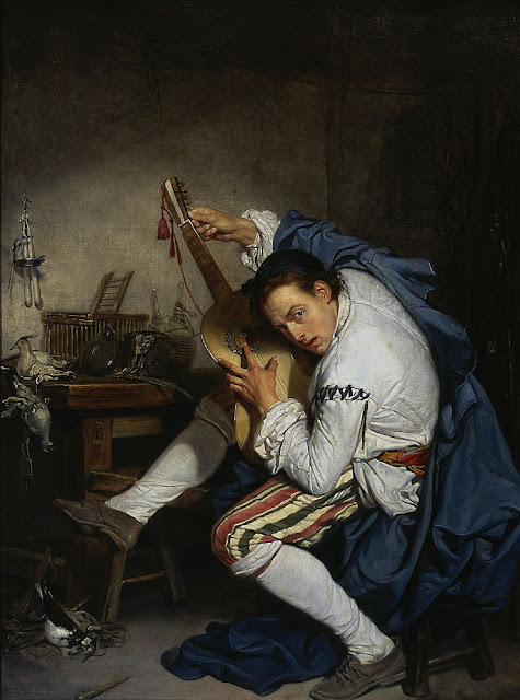 Jean-Baptiste Greuze - El guitarrista - 1755