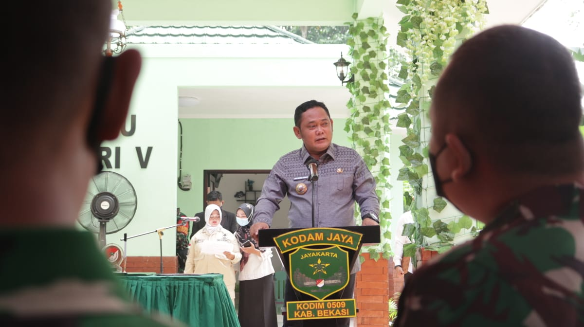 Bupati Bekasi Apresiasi Peran TNI pada Kegiatan TMMD ke-110