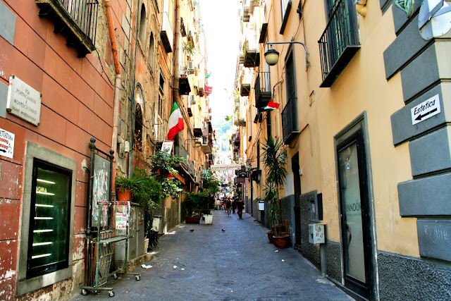 vie centrali Napoli, piante, quartieri spagnoli Napoli