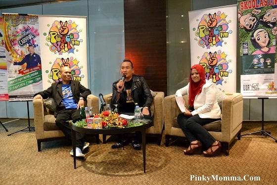 Majlis sidang akhbar Dato Ac Mizal untuk Karnival Peaceyall, Aplikasi DAC Peaceyall dan Skoolastik daripada Kartunis Ubi