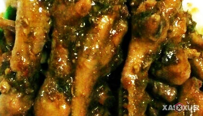 Resep cara membuat seblak ceker kuah hijau