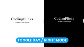 Toggle day night mode using HTML CSS and Javascript