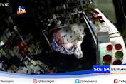 Terekam CCTV, Pria Pakai Mukena Putih Bobol Brangkas Toko