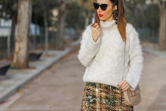 influencer blogger de moda valenciana con propuestas outfit comodo abrigado para vestir estas Navidades Nochevieja Reyes