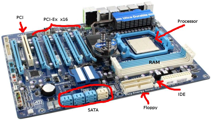 slot yang ada pada motherboard