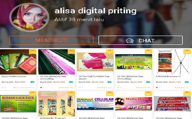 Alisa Digital Priting - Shopee.co.id