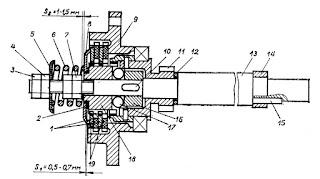Конструкция тормоза электрического исполнительного механизма типа МЭО