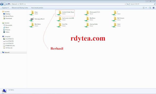 Cara Mudah Sharing Folder Komputer Untuk Berbagi File di Jaringan Komputer