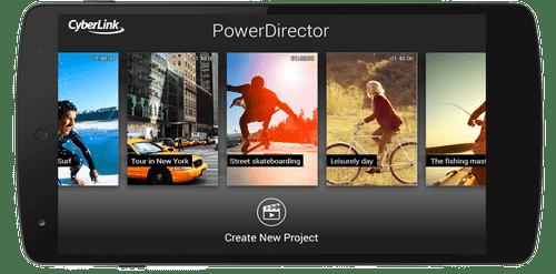 برنامج power director للأندرويد