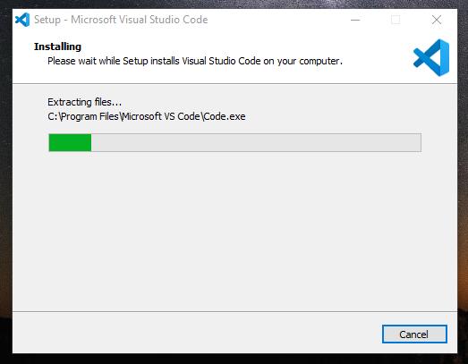 Proses Instalasi Visual Studio Code