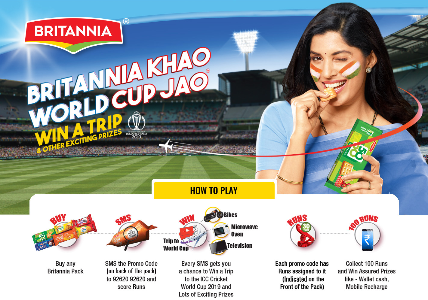 Britannia Khao WorldCup Jaao Offer - Assured prizes for all