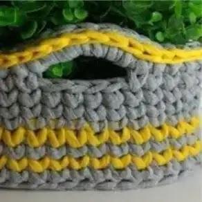 Cesto Cuadrado a Crochet