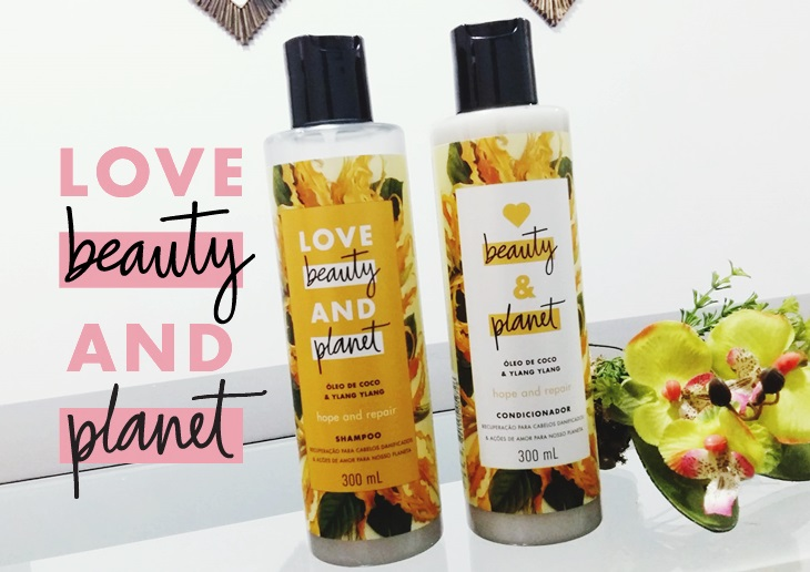 Shampoo e condicionador Love Beauty and Planet