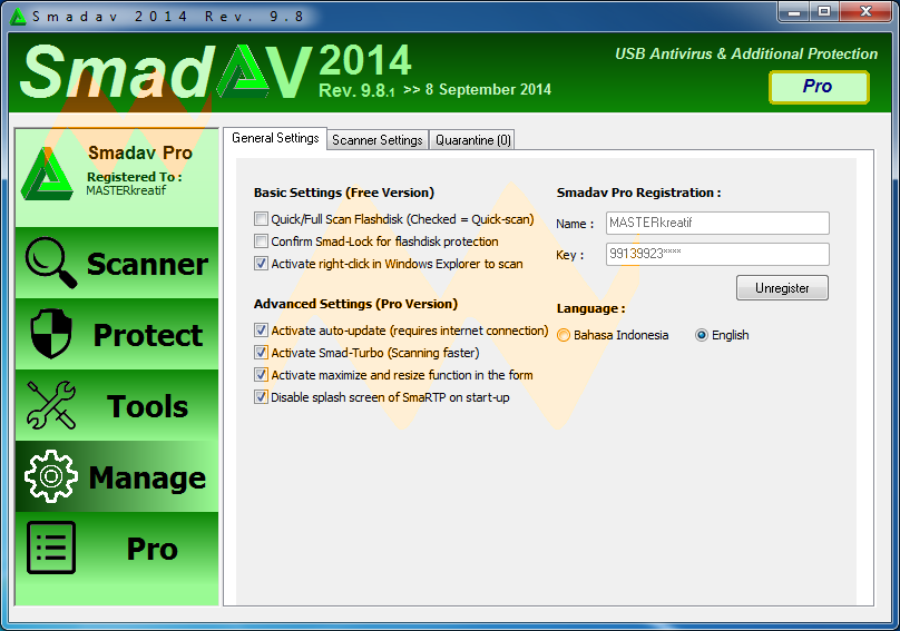 SmadAV Pro 2014 Rev. 9.8 Full Version