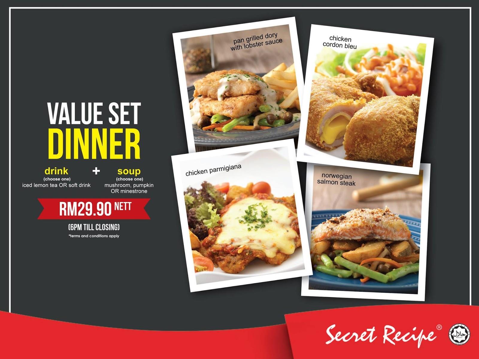 secret recipe promotion malaysia