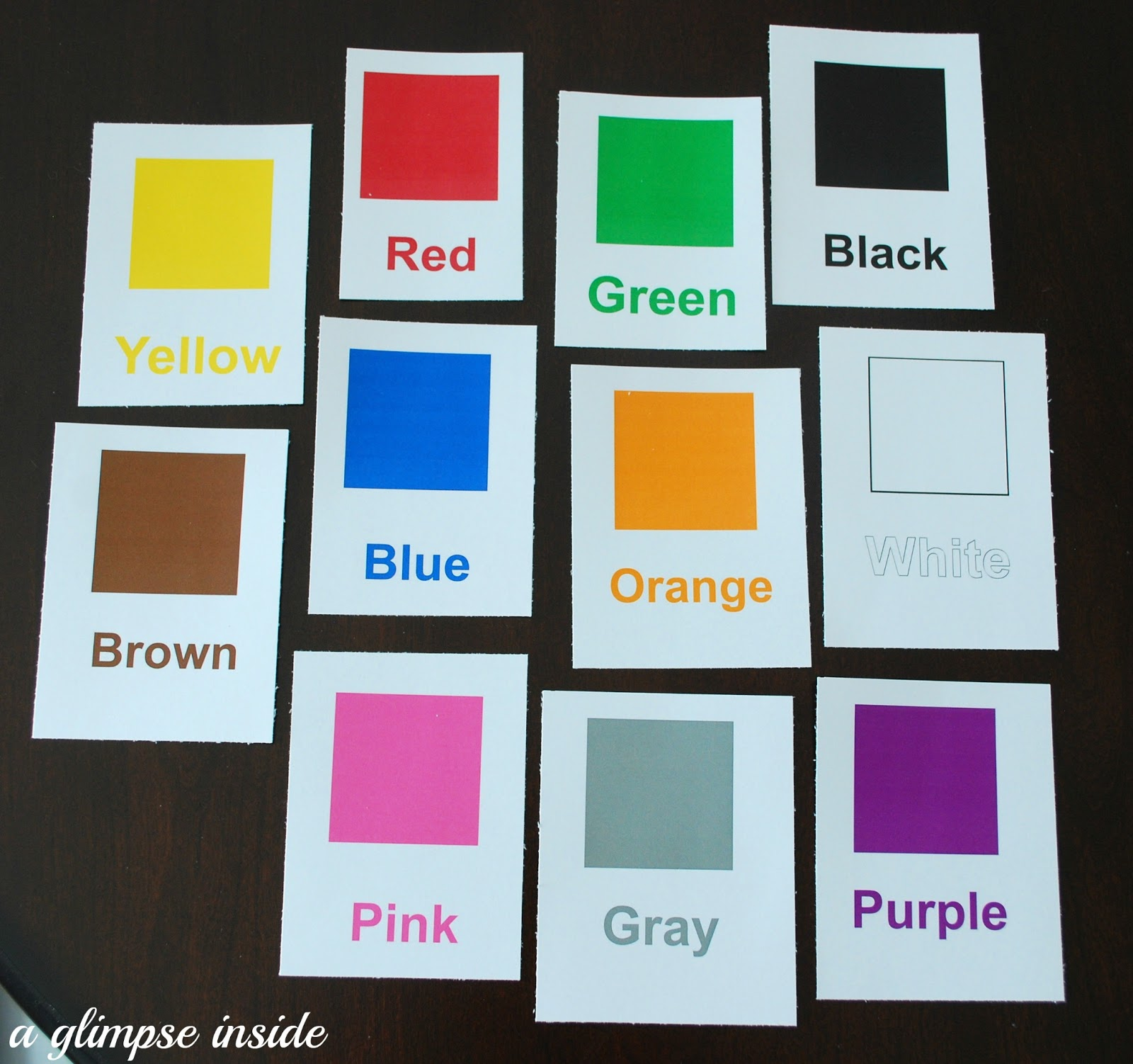 graphic regarding Printable Shape Flashcards named Shade and Condition Flashcard Printables A Glance Inside of