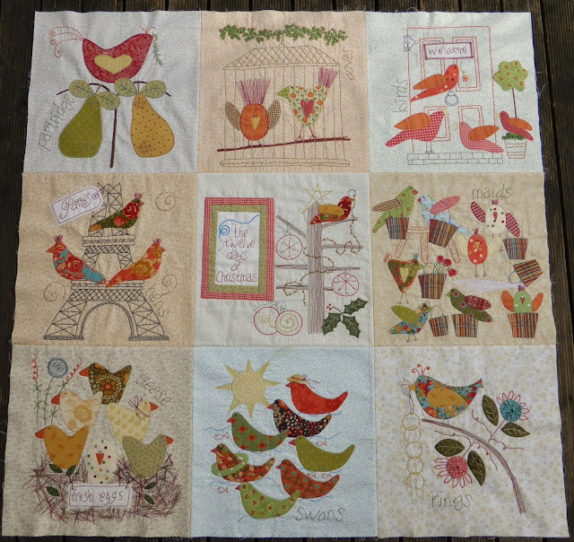 12 Days of Christmas quilt