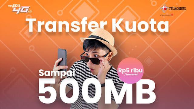 Layanan Transfer Kuota Internet Telkomsel
