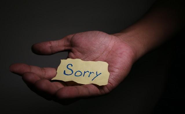 Minta maaf dengan tulus