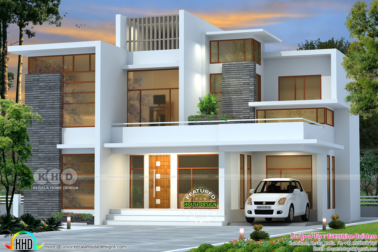2151 square feet contemporary residnece - Kerala home ...
