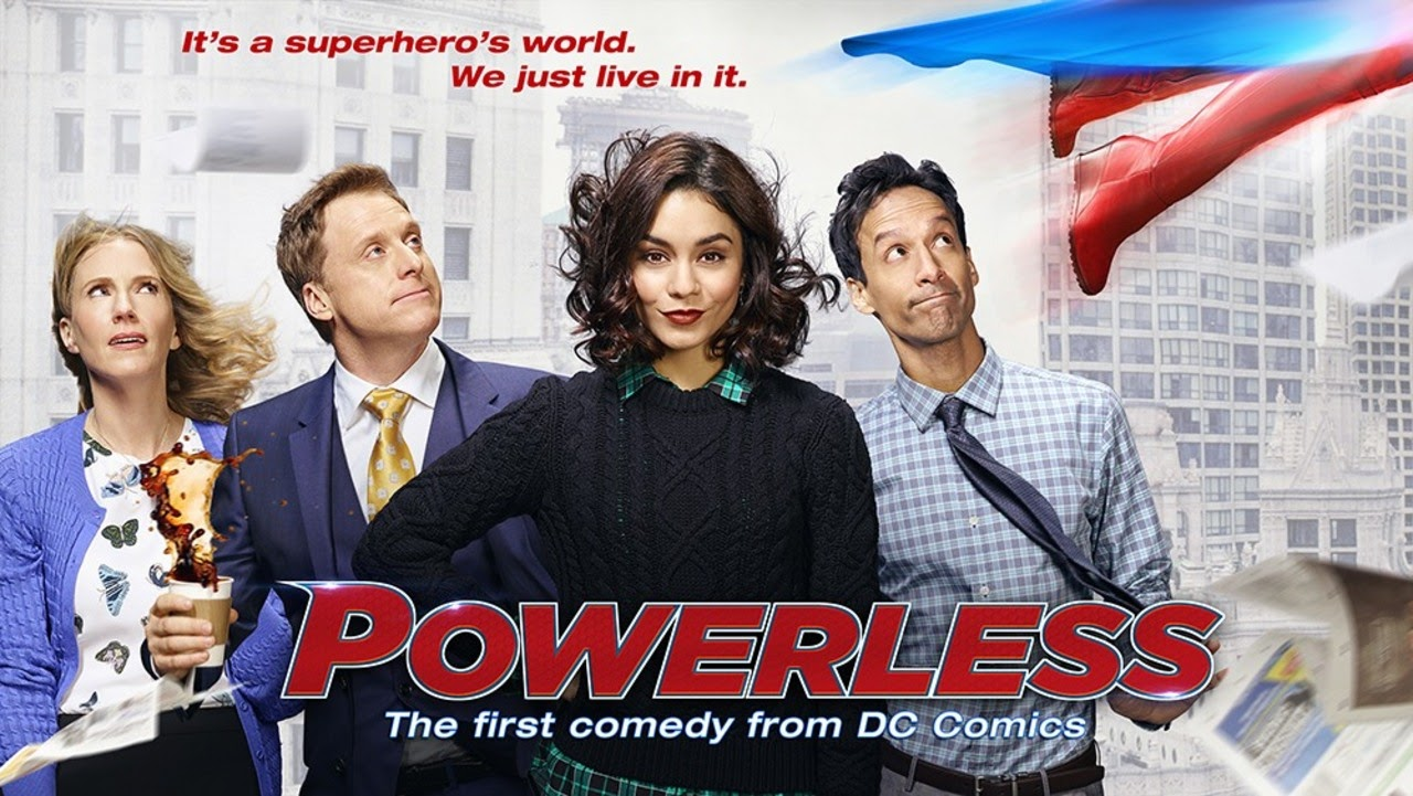 desktop wallpaper Powerless TV show logo