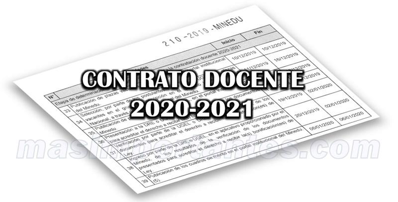 contrato docente 2020-2021