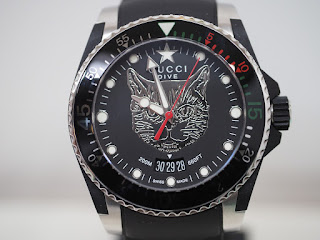 グッチ ダイヴ・DIVE キャットヘッド 国内定価191,400円(税込み)腕時計をお買い取りしました