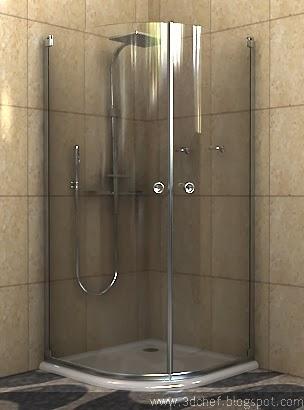 free 3d model shower stall