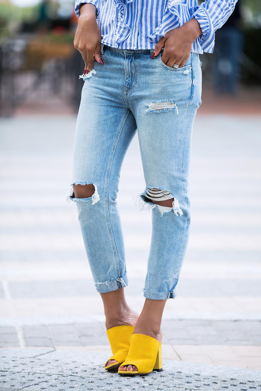 express girlfriend jeans, topshop mules, www.jadore-fashion.com