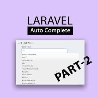 ajax autocomplete laravel part 2