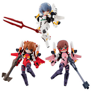 Figuras: Desktop Army trading figure Evangelion the new movie, Megahouse.