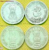 Sale Rs 5 coins food and agriculture organization and bhagwan mahavir 2600th janm kalyanak. Indian Coins