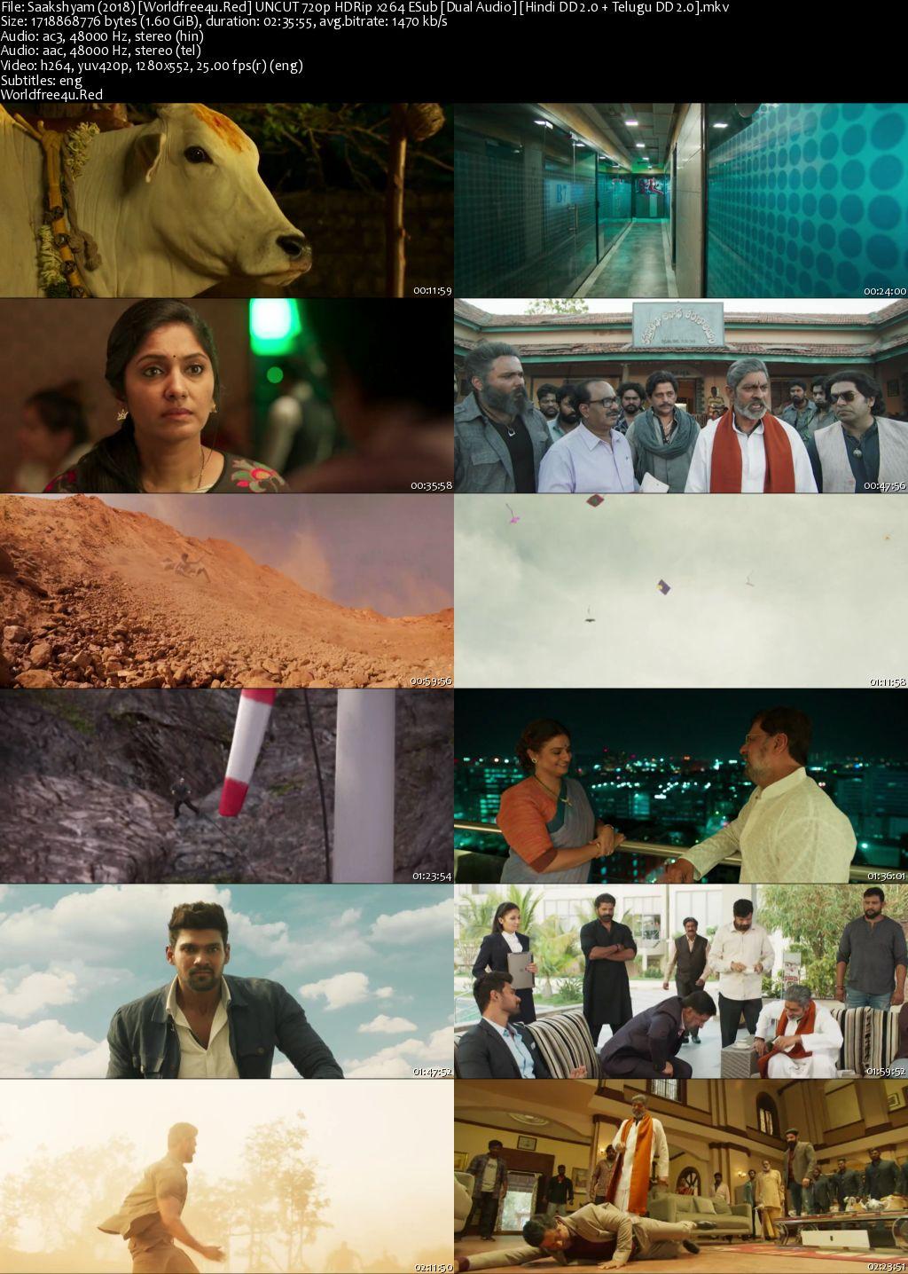Saakshyam 2018 Hindi Dubbed HDRip 720p
