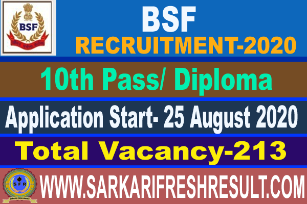 bsf recruitment 2020,bsf group b c recruitment 2020,bsf inspector sub inspector head constable vacancy 2020, latest jobs,government jobs, bsf,