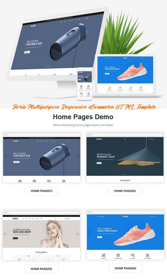 Multipurpose Responsive eCommerce HTML Template