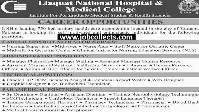 Liaquat National Hospital And Medical College Latest Jobs 2019